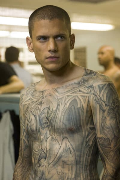 Motorcycle Auctions In Florida Best Male Fashion Icons: #8 Michael's Tattoos, 'Prison Break'