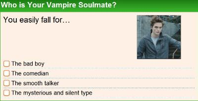Who is Your Vampire Soulmate?